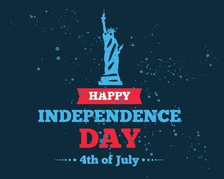united stated: Fourth of July, United Stated independence day greeting. Typographic design. Usable for greeting cards, banners, print. Illustration
