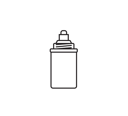 water filter: Water filter cartridge. Isolated vector icon. Black and white.