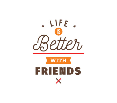 Happy Friendship day vector typographic design. Inspirational quote about friendship. Usable as greeting cards, posters, clothing, t-shirt for your friends. Illustration