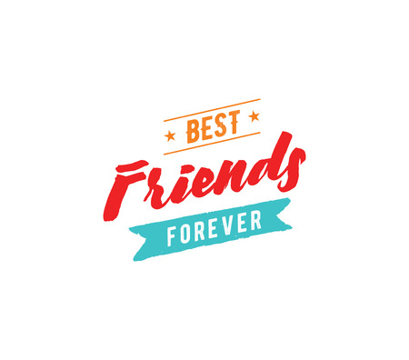 love couples: Happy Friendship day vector typographic design. Inspirational quote about friendship. Usable as greeting cards, posters, clothing, t-shirt for your friends. Illustration