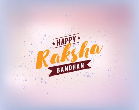 rakhi: Happy Raksha Bandhan. Indian holiday. Vector background. Typographic emblem, logo or badge. Usable for greeting cards, banners, print, t-shirts, posters and banners. Happy Rakhi