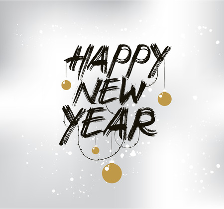 Happy New Year 2017 text design. Vector, typograpy. Usable as banner, greeting card, gift package etc.