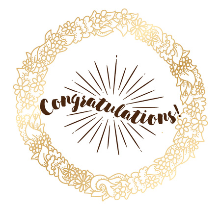 saying: Congratulations inscription. Typography for poster, invitation, greeting card or t-shirt.