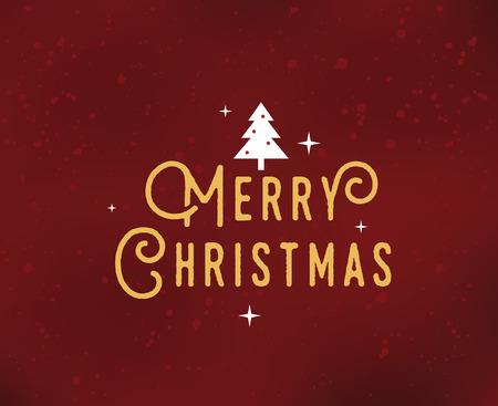 Merry Christmas text design.