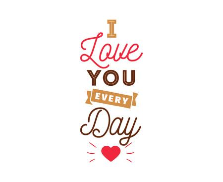 Happy Valentines day typography. Vector design.