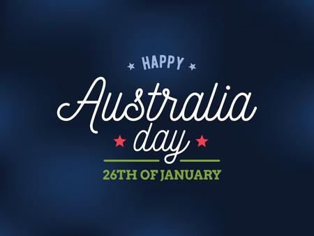 幸せなオーストラリア日ベクター デザイン。