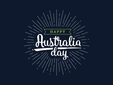 Happy Australia day vector design. Stock Illustratie