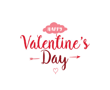 tipografía día de San Valentín feliz. Diseño del vector.