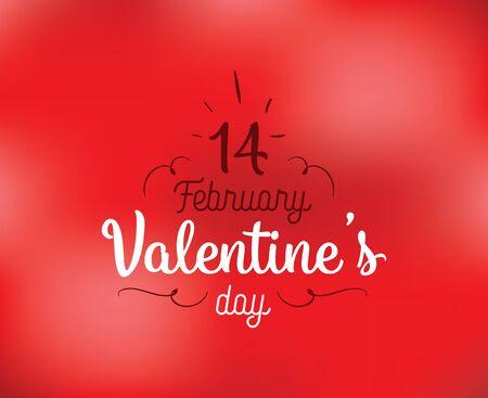 14: Happy Valentines day typography. Vector design.