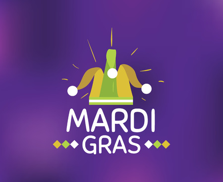 Mardi Gras background with typography
