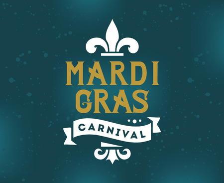 Mardi Gras background with typography