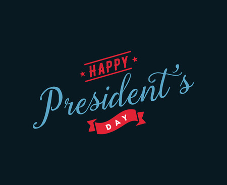 Presidents day vector typography.
