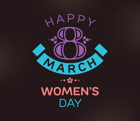 8 March. Womens day background.