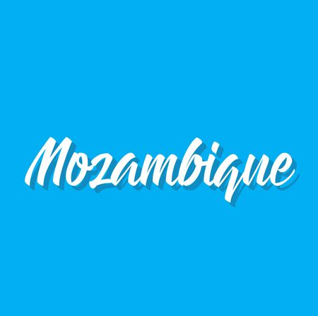 mozambique, text design. Vector calligraphy. Typography poster. Usable as background.