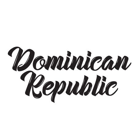dominican republic, text design. Vector calligraphy. Typography poster. Usable as background.