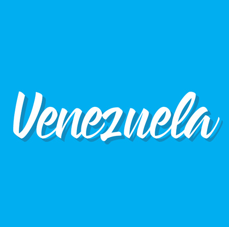 venezuela, text design. Vector calligraphy. Typography poster. Usable as background. Illustration