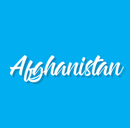 afghanistan, text design. Vector calligraphy. Typography poster. Usable as background.