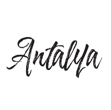 antalya, text design. Vector calligraphy. Typography poster. Usable as background. Illustration