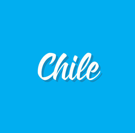 chile, text design. Vector calligraphy. Typography poster. Usable as background. Illustration