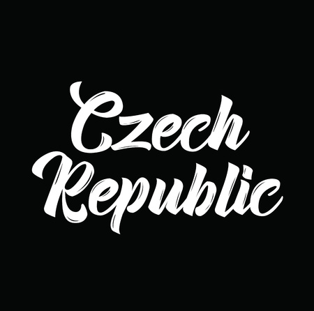 czech republic, text design. Vector calligraphy. Typography poster. Usable as background. Illustration