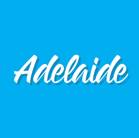 adelaide, text design. Vector calligraphy. Typography poster. Usable as background. Illustration