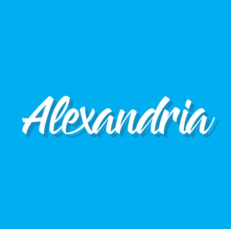 alexandria, text design. Vector calligraphy. Typography poster. Usable as background. Illustration
