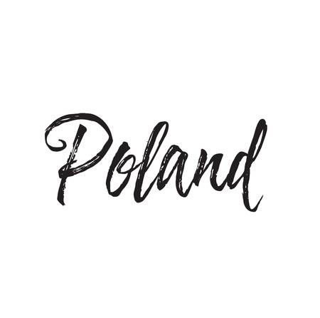 poland, text design. Vector calligraphy. Typography poster. Usable as background. Illustration