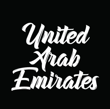 united arab emirates, text design. Vector calligraphy. Typography poster. Usable as background.