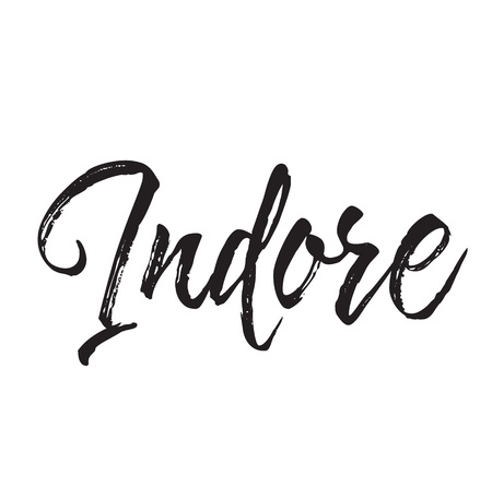 indore, text design. Vector calligraphy. Typography poster. Usable as background.