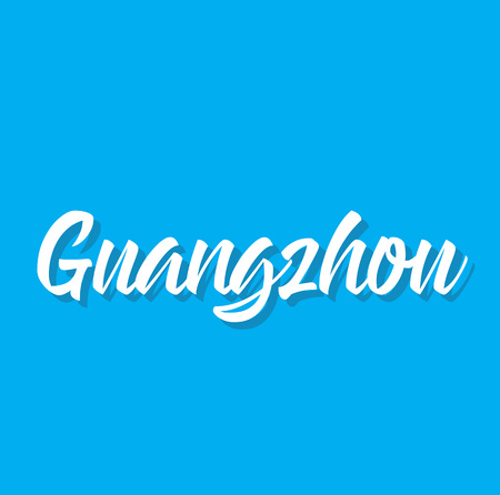 guangzhou, text design. Vector calligraphy. Typography poster. Usable as background.