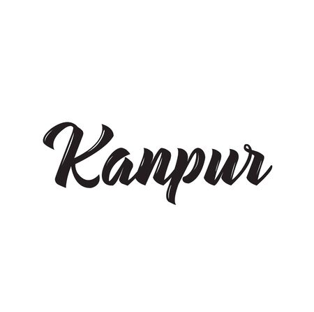 kanpur, text design. Vector calligraphy. Typography poster. Usable as background. Illustration