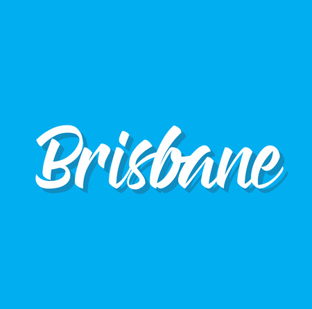 brisbane, text design. Vector calligraphy. Typography poster. Usable as background.
