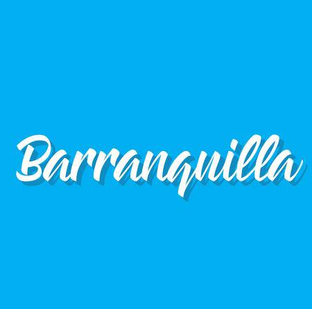 barranquilla, text design. Vector calligraphy. Typography poster. Usable as background. Illustration