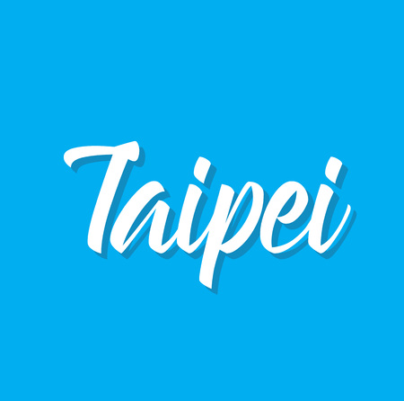 taipei, text design. Vector calligraphy. Typography poster. Usable as background. Illustration