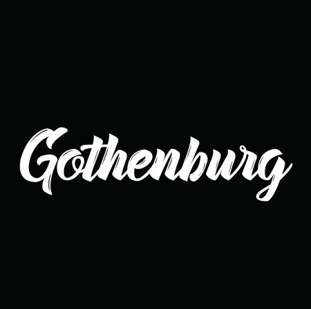 gothenburg, text design. Vector calligraphy. Typography poster. Usable as background. Illustration