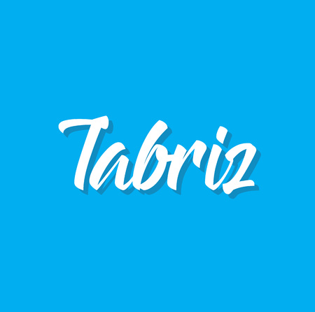 tabriz, text design. Vector calligraphy. Typography poster. Usable as background.