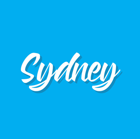 sydney, text design. Vector calligraphy. Typography poster. Usable as background.