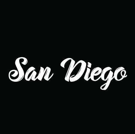 san diego, text design. Vector calligraphy. Typography poster. Usable as background.