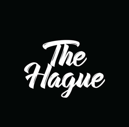 the hague: the hague, text design. Vector calligraphy. Typography poster. Usable as background.