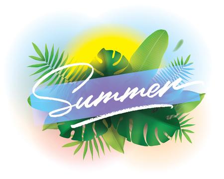 Heure d'été. Contexte vectoriel pour les affiches et les bannières.