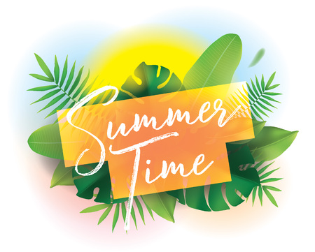 Summer time. Vector background for posters and banners.