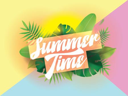 Heure d'été. Contexte vectoriel pour les affiches et les bannières. Banque d'images - 78690521