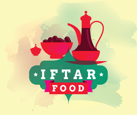 Ramadan kareem vector graphic. Iftar party.
