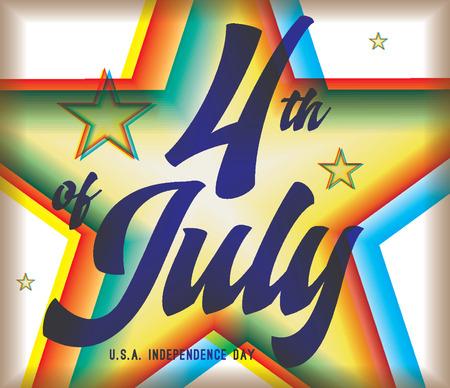 united stated: 4th of July, United Stated independence day greeting. Fourth of July design with text. Usable as greeting card, banner, background.