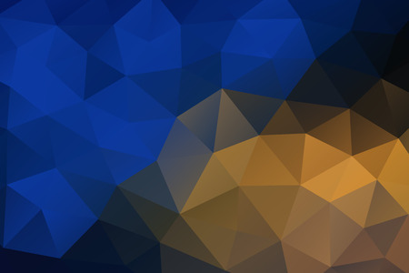 rumpled: Blue yellow abstract geometric rumpled triangular background low poly style. vector illustration