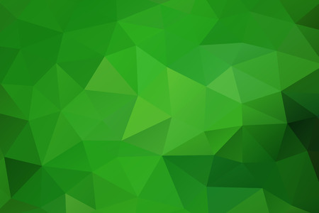 Green abstract geometric rumpled triangular background low poly style. Vector illustration Ilustração