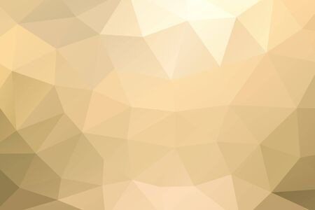 rumpled: Yellow gold abstract geometric rumpled triangular background low poly style. Vector illustration Illustration