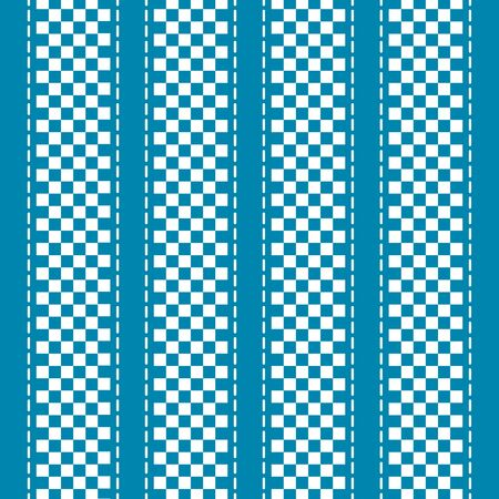 Blue and white checkered abstract background. Vector illustration