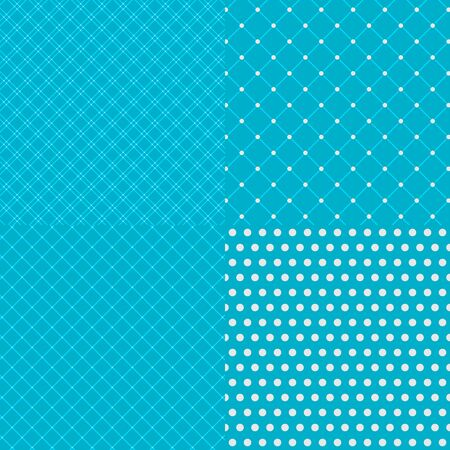blue stripe: Geometric tiles with dotted seamless patterns background. Vector illustration with swatches Illustration