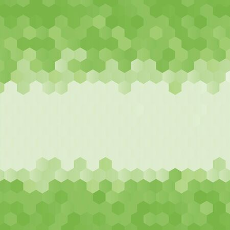 rumpled: Green abstract geometric rumpled hexagon background low poly style. Vector illustration Illustration